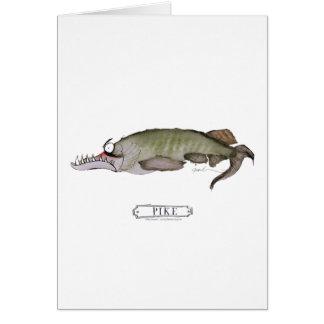Pike fish, tony fernandes greeting card