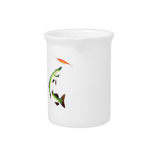 Pike fishing and fly fishing drink pitcher
