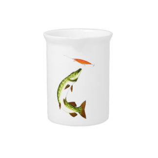 Pike fishing drink pitcher