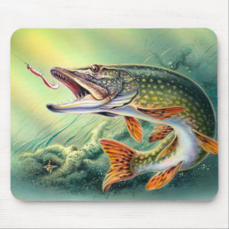 PIKE FISHING MOUSEPAD