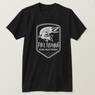 1039a07b Pike Fishing Size Matters Angler Funny Fisherman T-Shirt