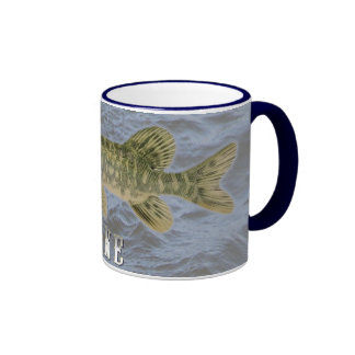 Pike Freshwater Fish, With Water Background Image Ringer Coffee Mug