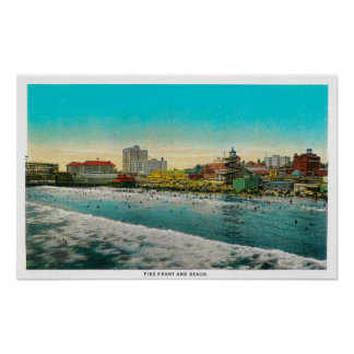Pike Front and Long Beach, California Print