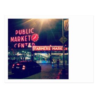 Pike Market at Seattle Postcard