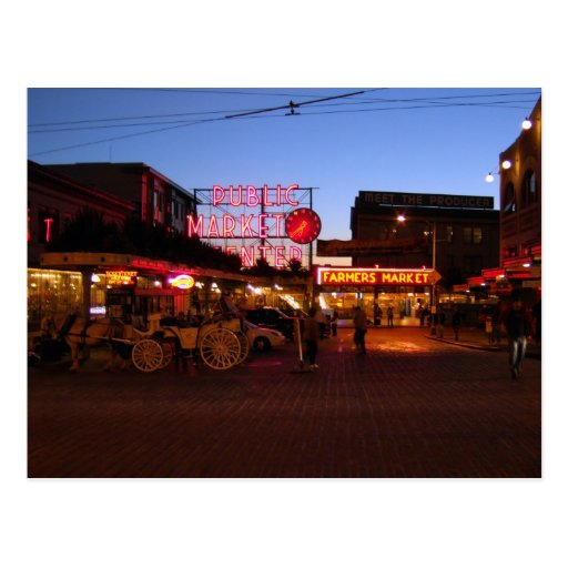 Pike Market Seattle, USA Postcard
