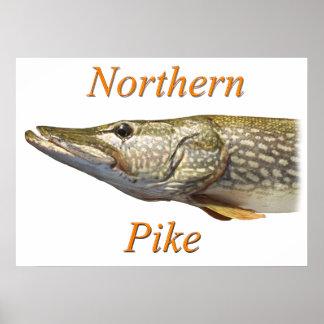 Pike Muski fishing Poster