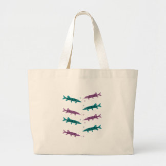 Pike pattern tote bags