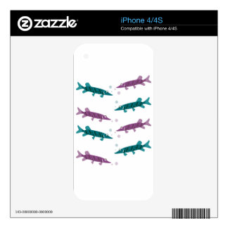 Pike pattern decal for iPhone 4S