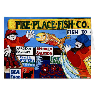 Pike Place Fish Co. Greeting Card