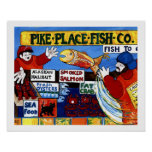 Pike Place Fish Co. Poster