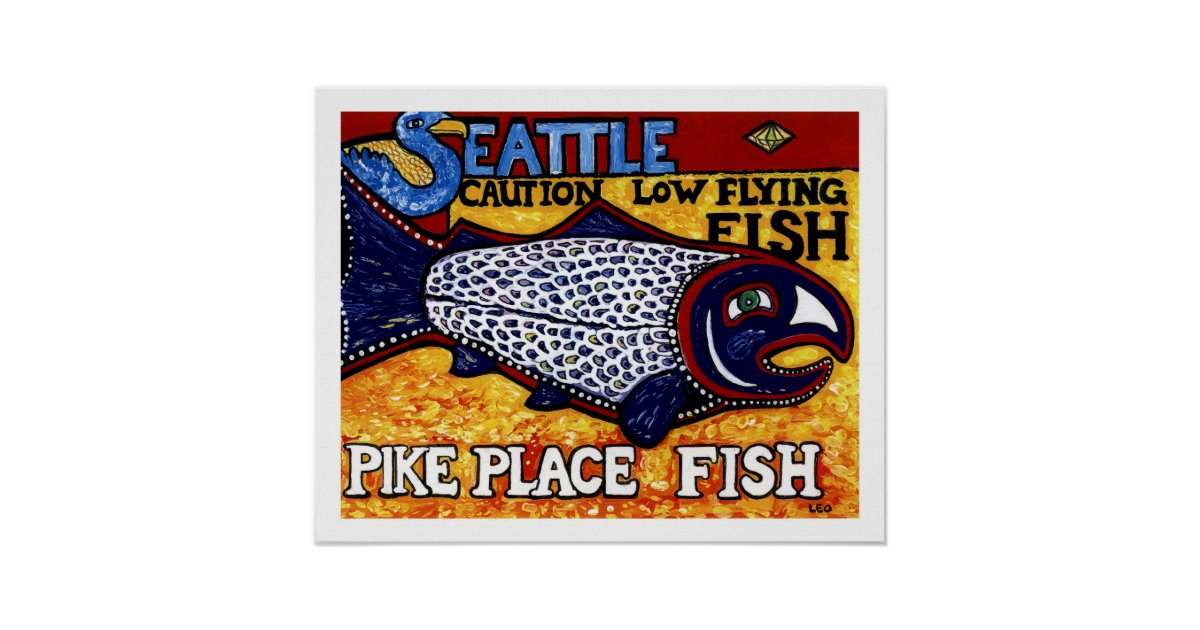 Pike place fish poster zazzle for Pike place fish