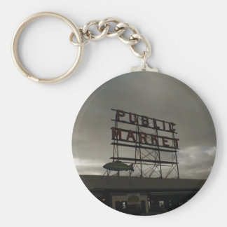 Pike Place Market In Seattle Key Chain