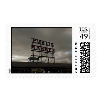 Pike Place Market In Seattle Stamp