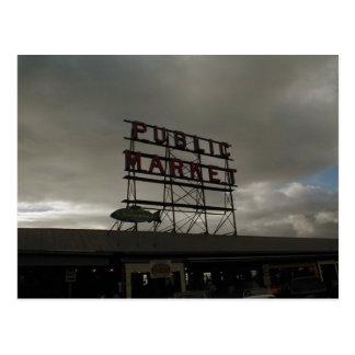 Pike Place Market In Seattle Postcard