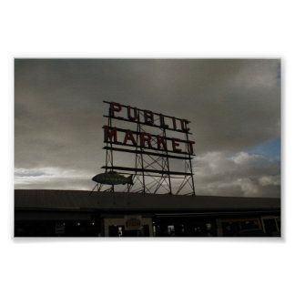 Pike Place Market In Seattle Poster