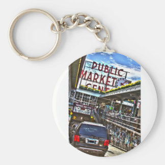 Pike Place Market Keychain