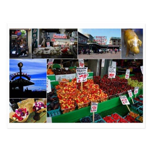 Pike Place Market, Seattle Postcard