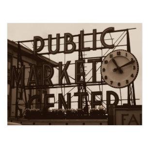 Pike Place Market, Seattle postcard, vintage style Postcard