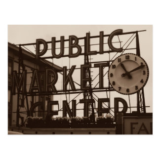 Pike Place Market, Seattle postcard, vintage style Postcard