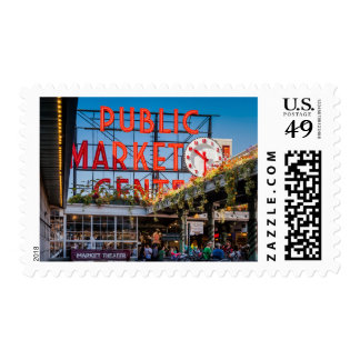 Pike Place Public Market Postage Stamp