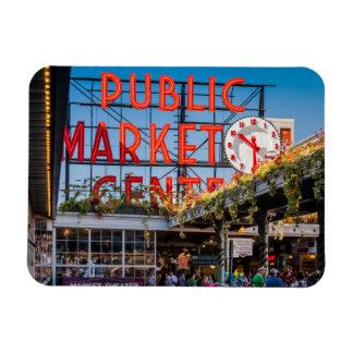 Pike Place Public Market Rectangular Photo Magnet