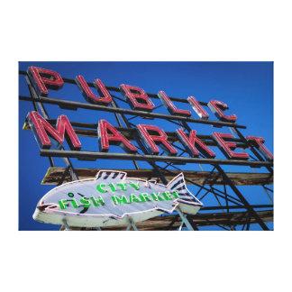 Pike Place Public Market Sign Canvas Print