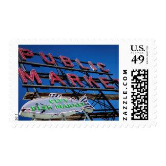 Pike Place Public Market Sign Postage