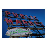Pike Place Public Market Sign Poster