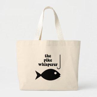 pike whisperer fishing tote bag
