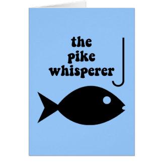 pike whisperer fishing greeting card