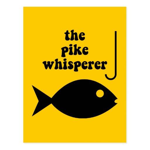 pike whisperer fishing post cards