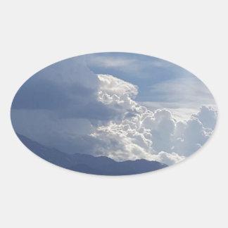 Pike's Clouds Oval Sticker