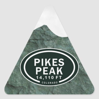 Pikes Peak 14,110 FT Colorado Rocky Mountain Triangle Sticker