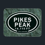 "Pikes Peak 14,110 FT Colorado Springs Mountain Magnet<br><div class=""desc"">Pikes Peak 14, 110 FT Colorado Springs 14er Rocky Mountain Tag Magnet ~</div>"