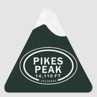 Pikes Peak 14,110 FT Colorado Springs Mountain Triangle Sticker