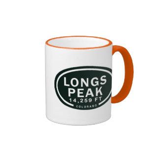 Pikes Peak 14,259 FT Colorado Rocky Mountain Ringer Mug