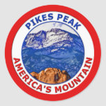 Pikes Peak America's Mountain Classic Round Sticker
