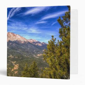 Pikes Peak and Blue Sky 3 Ring Binder