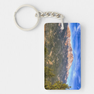 Pikes Peak and Blue Sky Keychain