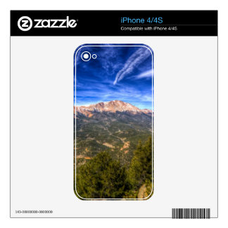 Pikes Peak and Blue Sky Skin For iPhone 4S
