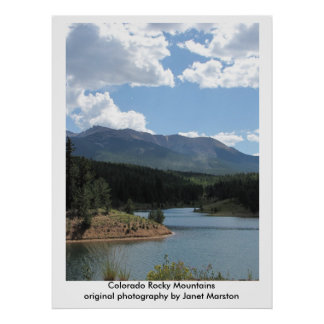 Pikes Peak at Catamount Reservoir, Colorado Poster