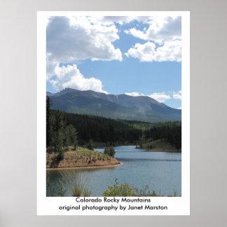 Pikes Peak at Catamount Reservoir, Colorado Poster
