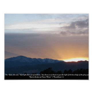 Pikes Peak at Sunset Poster