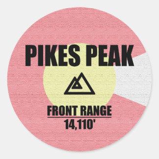 Pikes Peak Classic Round Sticker