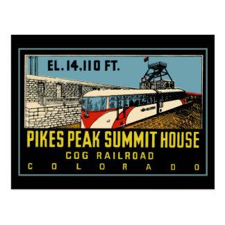 Pikes Peak COG Railway Postcard
