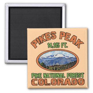 Pikes Peak, Colorado 2 Inch Square Magnet