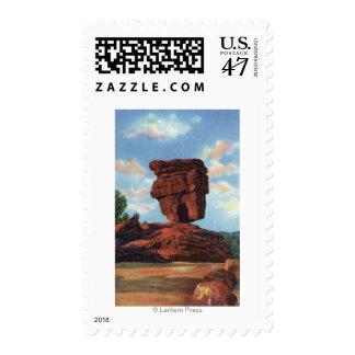 Pikes Peak, Colorado - Balanced Rock Stamp