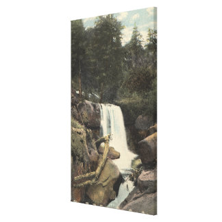 Pikes Peak, Colorado - Minne-Ha-Ha Falls View Gallery Wrap Canvas