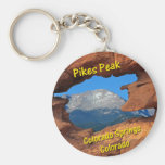 Pikes Peak, Colorado Springs, Colorado Basic Round Button Keychain