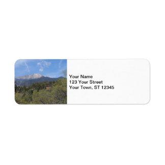 Pikes Peak- Colorado Springs Return Address Label